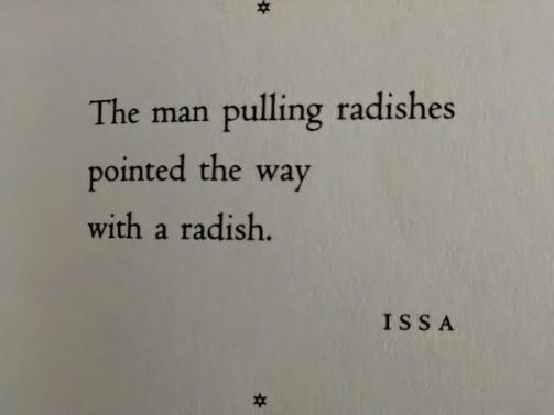 The Way, with a radish