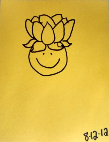 spiritual journey of healing smiley lotus head